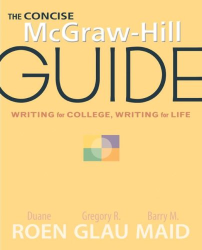 The Concise McGraw-Hill Guide: Writing for College,...