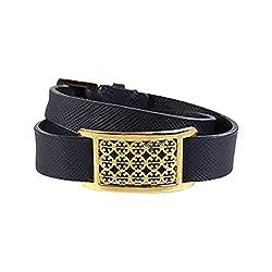 Tory Burch Kinsley Double Wrap Bracelet Tory Navy Shiny Brass