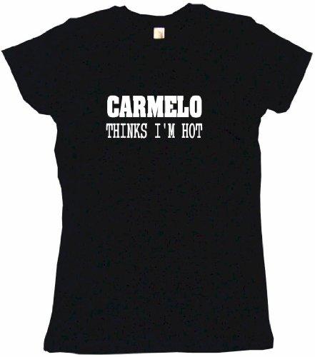 Carmelo Thinks I'M Hot Women'S Tee Shirt Small-Black Babydoll