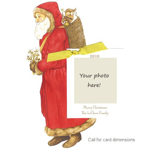 St. Nick Die-Cut Card, Pack Of 10 front-940928
