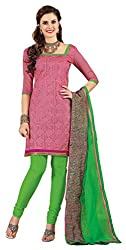 Atisundar fascinating Pink unstitched embroidered straight cut suits- 3752_37_6007