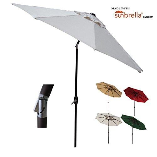 Abba Patio 9 Foot Patio Umbrella Sunbrella Fabric Aluminum Market