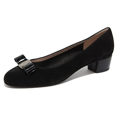 6734N ballerina donna SALVATORE FERRAGAMO VARA nero shoes woman [40.5-10.5]