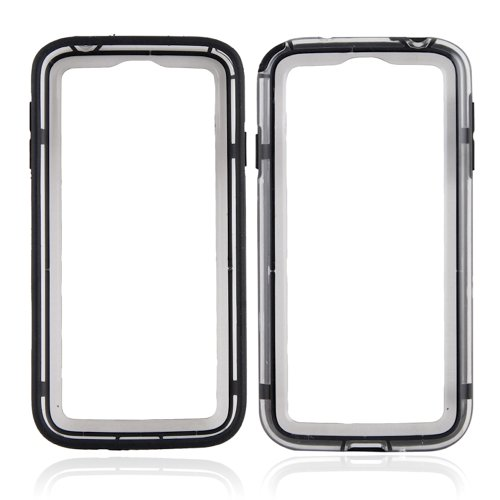 Primeshop-Clear Black Bumper Case Tasche für Samsung Galaxy i9500 S4