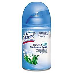 LYSOL NEUTRA AIR FRESHMATIC Refill, Fresh Scent, Aerosol, 6.17 oz - six refills.