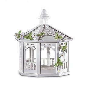 Amazon.com : Gifts & Decor White Gazebo Style Bird Feeder, Ivy Accent