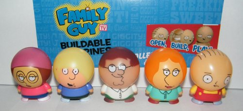 Family Guy Buildable Figure Toy Play Set of 8 with Devil Stewie, Brian, Peter, Lois, Chris and More! - 1