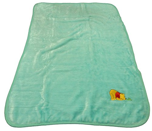Disney Winnie the Pooh Decorative Baby Blanket Throw - Mint w/ Inch Worm