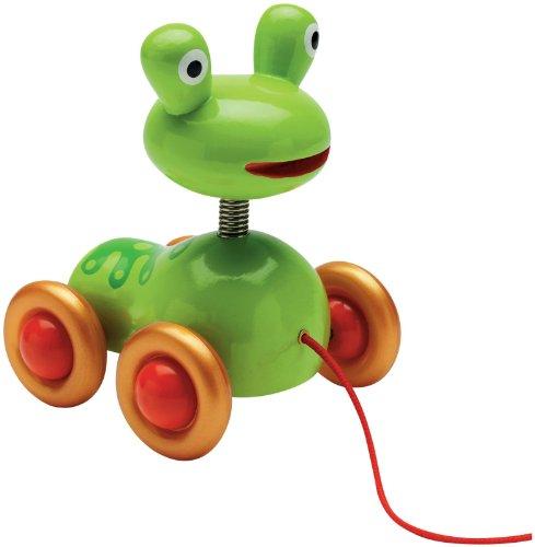 Djeco / Pistache Frog Pull Toy