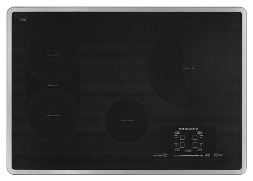 KitchenAid Architect Series II KICU509XSS 30 Induction Cooktop 4 Elements, Bridge Element