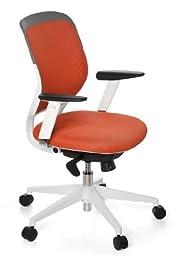 Hjh Office Siège de bureau type fauteuil de direction - Tissu en maille - Orange