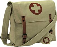 Khaki Vintage Red Cross Medic Shoulder Bag