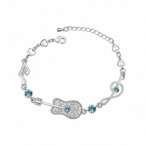 TAOTAOHAS- [ Search Name: Love Guitar ] (1PC) Crystallized Swarovski Elements Austria Crystal Bracelet, Made of Alloy Plated with 18K True Platinum / White Gold and Czech Rhinestone