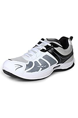 Columbus Men White Black Grey Sports Shoes