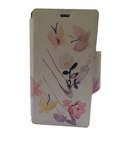 Newtronics Butterfly Imak Premium Luxury PU Leather Flip Stand Hard Back Case Cover For Nokia Lumia 720