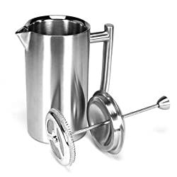 Brushed Stainless Steel 8-11 fl. oz. French Press made by Frieling