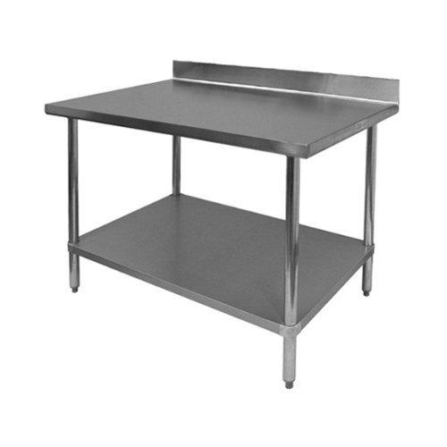stainless steel commercial work table with 1 undershelf 4 backsplash