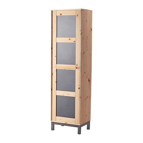 NORNÄS Wardrobe, pine, gray