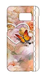 Samsung Galaxy S7 Edge Floral Print Design Mobile Case Hard Back Cover for girls - Printed Designer Cover - SGS7EFLRLB134