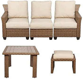 Hampton Bay Tobago 5-Piece Modular Patio Sectional Set
