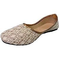 Womens Ethnic Footwear Mesh Jutis, Mojaris, Bellies,creame (7)