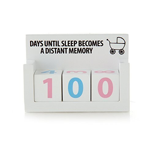 Baby New Parents Countdown Blocks - Days Until Sleep Becomes a Memory