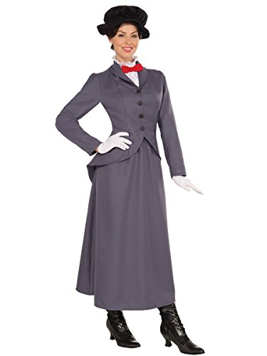 English Nanny Costume Mary Poppins Dress Victorian Disney Fancy Womens