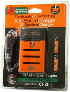 IXIX XX-SPEED CHARGER AA AAA ET 020060 ALIMENTATION SECTEUR ET VOITURE