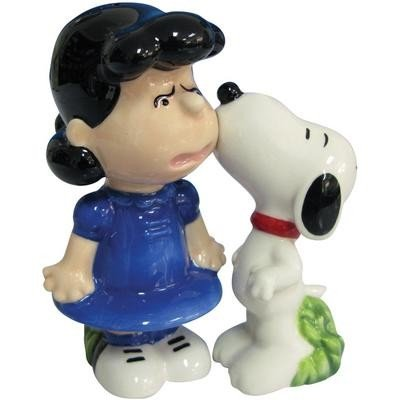 Westland Giftware Peanuts Magnetic Snoopy And Lucy Kiss Salt And Pepper Shaker Set, 3-1/2-Inch front-77124