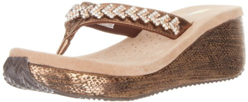 Bronze Wedge Sandals front-1023635