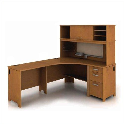 Bush Envoy L-Shaped Desk in Natural Cherry