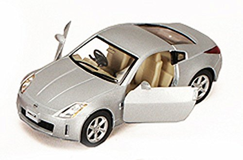 Nissan Fairlady 350Z, Silver - Kinsmart 5061D - 1/34 scale Diecast Model Toy Car (Nissan Z Toy Car compare prices)