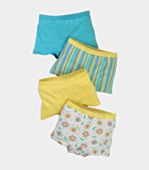 Fruit of the Loom Toddler Girls' 4pk Assorted Boyshort
