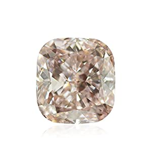 1.01Cts Fancy Light Brown Pink Loose Diamond Natural Color Cushion Shape GIA
