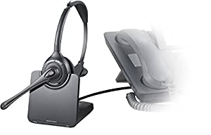 Plantronics CS510 - Over-the-Head monaural Wireless Headset System – DECT 6.0 (Color: Black/Silver)