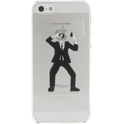 SoftBank au iPhone 5 専用 Applus キャラクター ハード クリア iPhone5 ケース カバー (林檎泥棒)