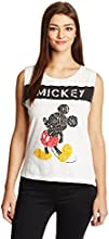 Disney by Genes Women's Animal Print T-Shirt (CHD15-048KTTOP_Vellum_Small)