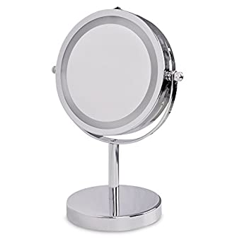 Battery Operated Vanity Mirror Lights : Modern Adjustable Silver Chrome Battery Operated Magnifying LED Bathroom Make Up Cosmetic ...