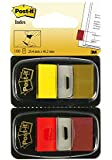 Post-it Flags, 1 Inch, Ideal For Marking And Flagging Paper Documents, Red and Yellow , 50 Flags per Dispenser, Two dispensers per Pack (680-R/Y2)