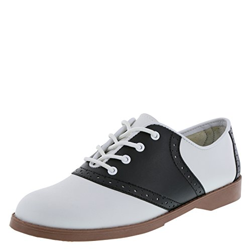 Predictions Women's Black/White Saddle Oxford 9 M US