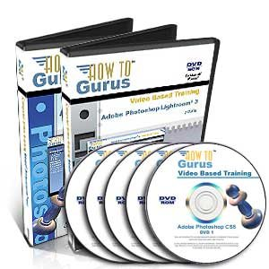Adobe Photoshop CS5 plus Lightroom 3 Software Training on 5 DVDs, 38 Hours in 530 Computer Video Tutorial Lessons