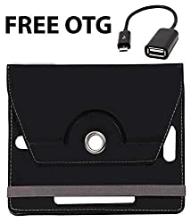 Black Stylabs Tablet Book Flip Case Cover For Xolo Play 7.0 Xtw800 (Universal) FREE OTG
