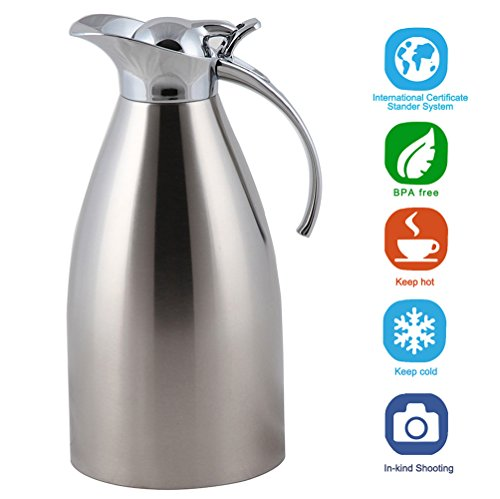 Panesor 51 Ounce Thermal Coffee Milk Carafe Vacuum Insulated Stainless Steel Carafe Pitcher (Vacuum Insulated Thermal Carafe compare prices)
