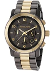 Michael Kors Men's MK8160 Brown Stainless Steel Quartz Watch with Grey Dial