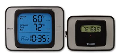Taylor 1526 Wireless Indoor/Outdoor Thermometer With Hygrometer & Atomic Clock from TAYLOR