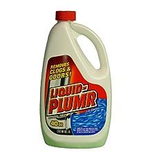 Liquid-Plumr 00259 Drain Maintainer, 40 fl oz Bottle (Case of 9)