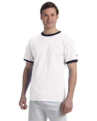 Champion - Maglietta sportiva - Asimmetrico -  uomo bianco/navy Small