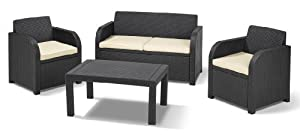 Keter Carolina Lounge Set - Grey (4 Pieces)