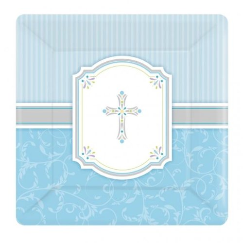 Blessings Blue Dinner Plates Package of 8 - 1