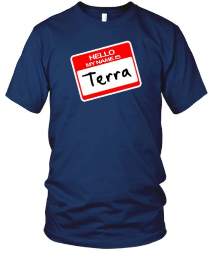 Hello, My Name is Terra Fine Jersey T-Shirt, Lapis, S